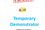 VACANCIES -Temporary Demonstrator