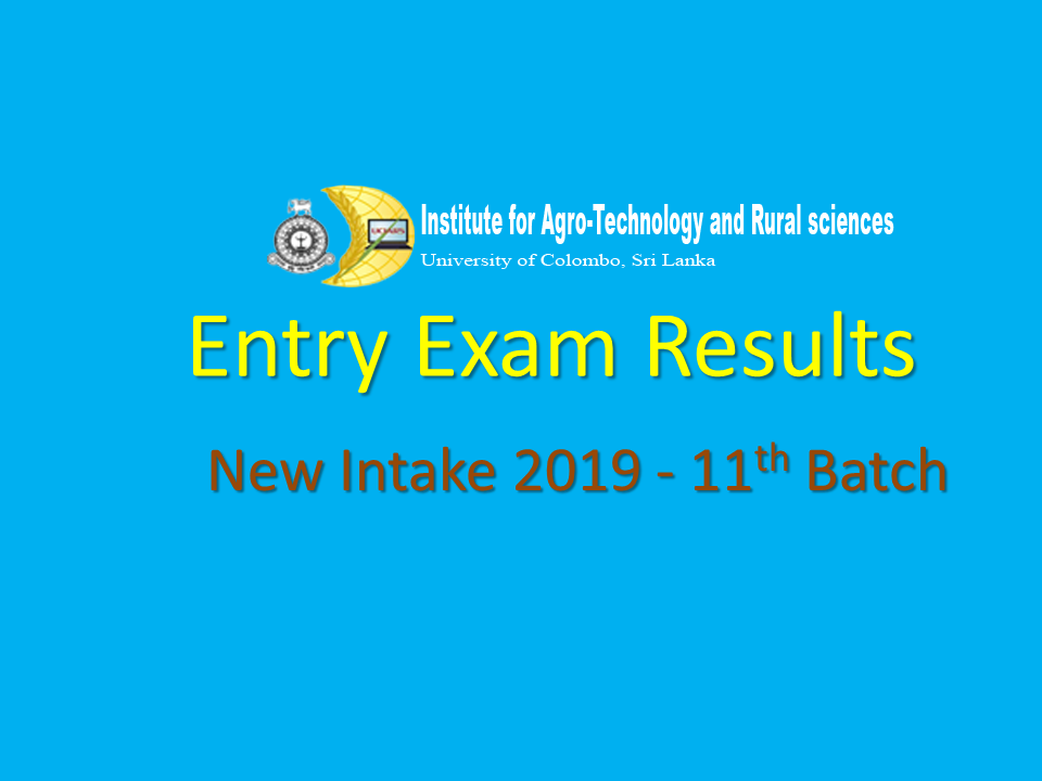 Entry Exam Results-2019 New Intake