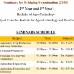 Seminars for Bridging Examination (2020) (2nd Year and 3rd Year)