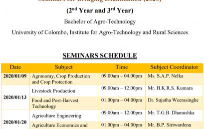 Seminars for Bridging Examination (2020) (2nd Year and 3rd Year)