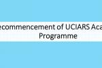 Recommencement of UCIARS Academic Programme for 10th Batch Students -අධ්යයන කටයුතු නැවත ආරම්භ කිරීම